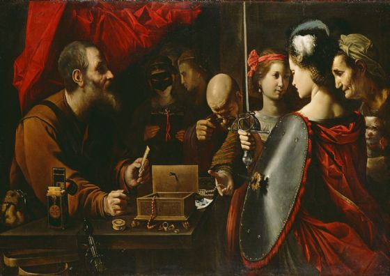 Paolini, Pietro: Achilles among the Daughters of Lycomedes. Fine Art Print/Poster. Sizes: A4/A3/A2/A1 (003987)